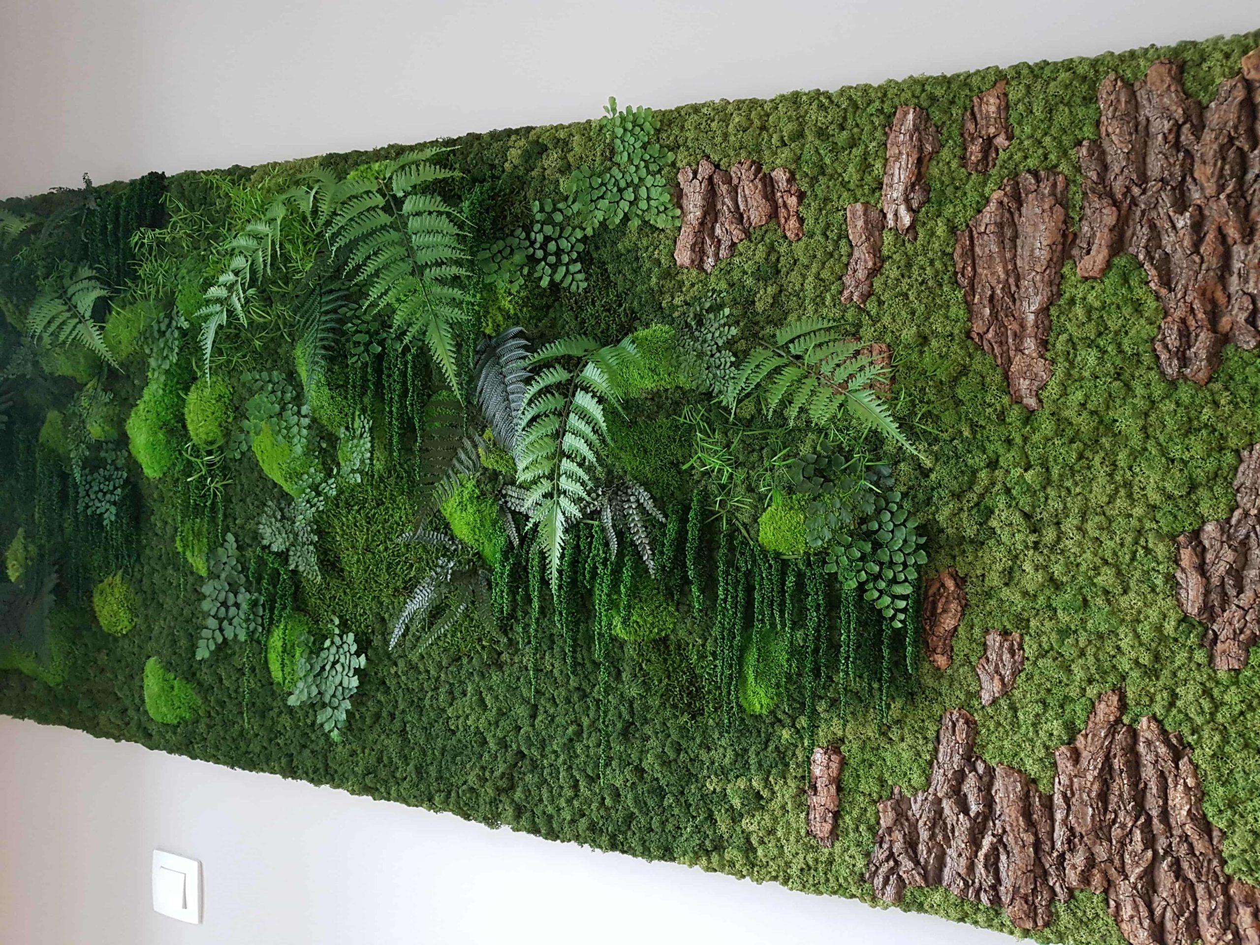 Jungle Mospaneel met schors